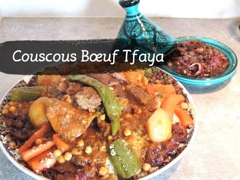 recette-salÉe-:-couscous-boeuf-et-tfaya/-beef-couscous-with-onions-compote-@chadcuisine
