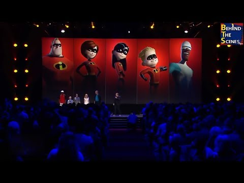 The Incredibles 2 cast assembled at Disney D23 Expo