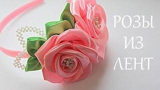 Flores de fita em tiaras – Passo a passo