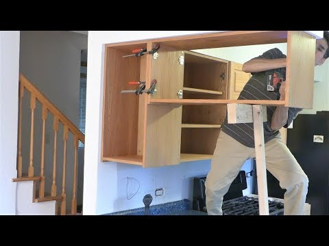 Install kitchen cabinets ((My house remodeling project #5)