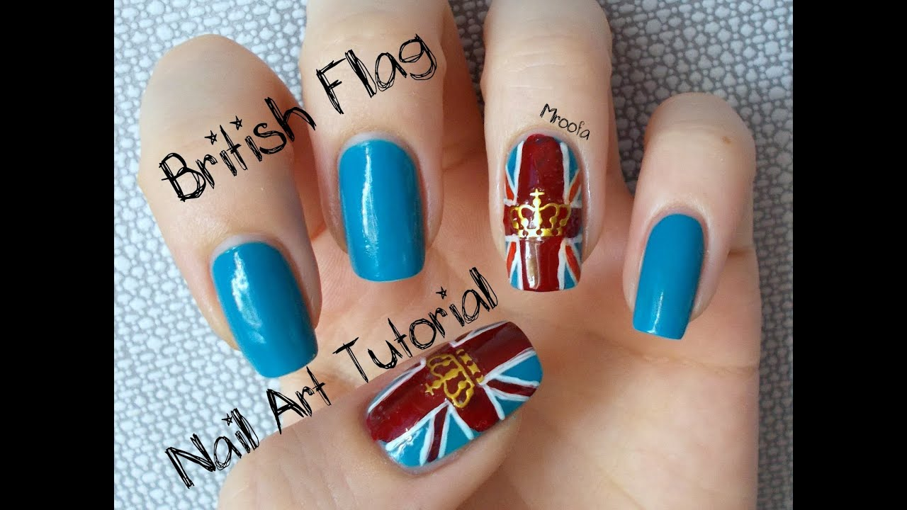 British flag union jack nail art tutorial youtube prinsesfo Image collections
