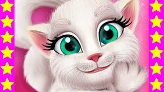 Кошка Анжела грязнуля Мультфильм про кошечку. Развивающий мультик для детей.