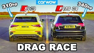 New Audi S3 v Old Audi RS3 - DRAG RACE