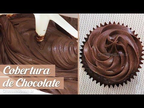 COBERTURA DE CHOCOLATE para Bolos e Cupcakes | Receita