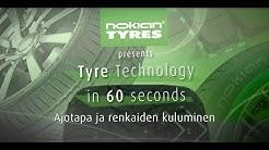 Rengasteknologiaa 60 sekunnissa: Ajotapa ja renkaiden kuluminen