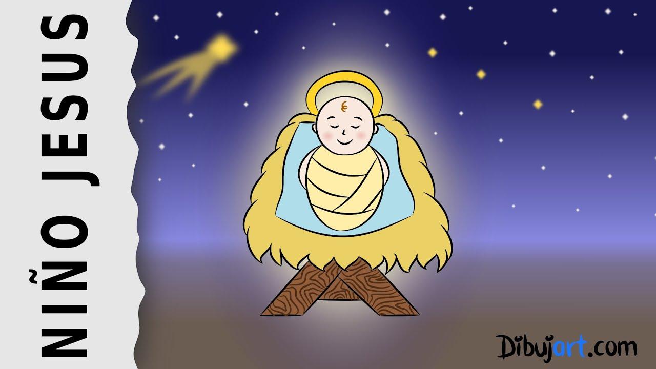Dibujo del Niño Jesús — Dibujos de Navidad (2018)