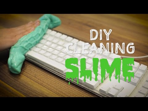 Clean your keyboard and more with homemade slime