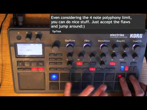 Korg Electribe 2 demo tutorial   Fun with scales