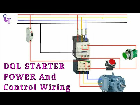 How to wire contactor, Overload Relay with Motor/ Power and control