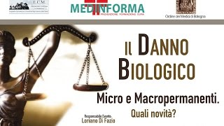 """""""Il Danno Biologico: Micro e Macropermanenti. Quali novità?"""" 11 Marzo 2017"""