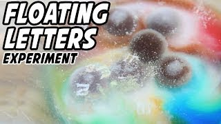 Candy Science Experiment : Floating Letters