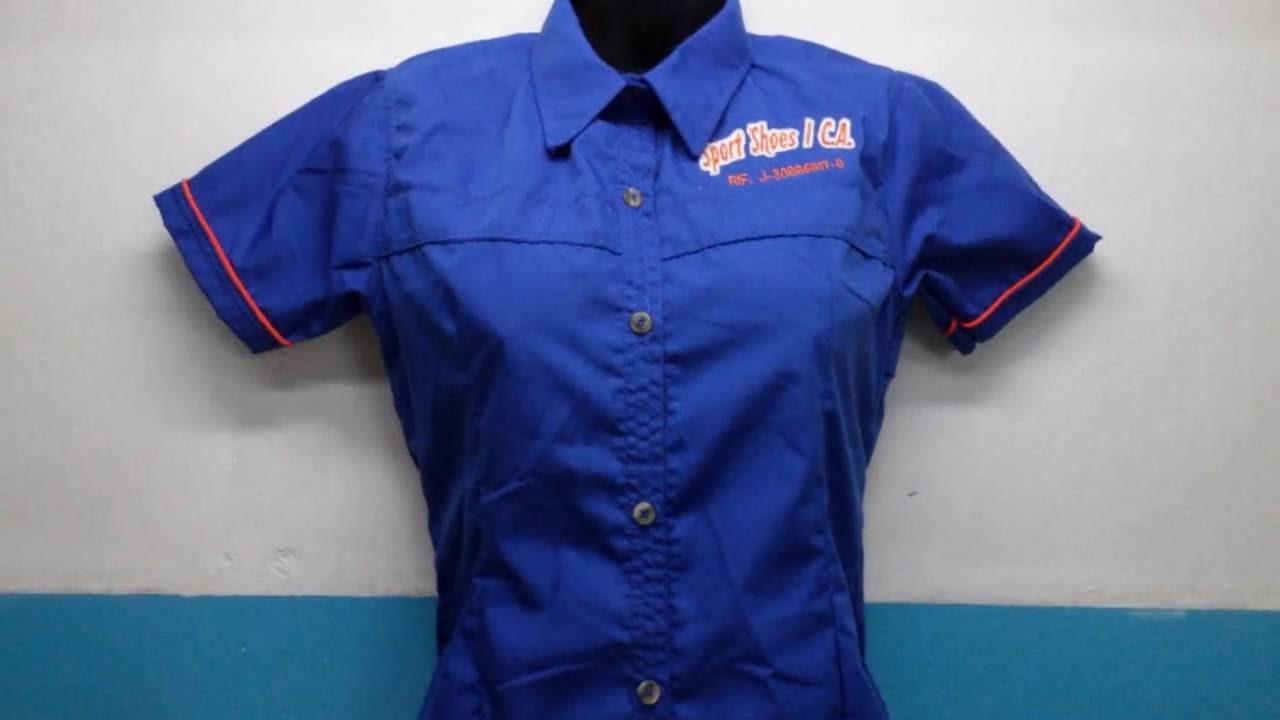a2b844a11e13b Uniformes Bordados Camisas Columbia Chemises - YouTube