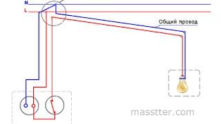 Подключение розетки и выключателя в одном блоке(, 2015-06-17T14:23:29.000Z)