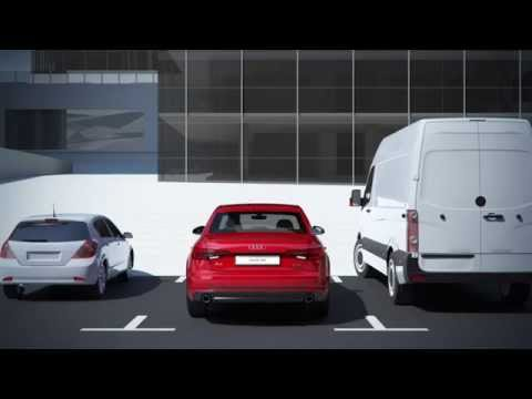 Audi A4 Rear cross traffic assistant animation