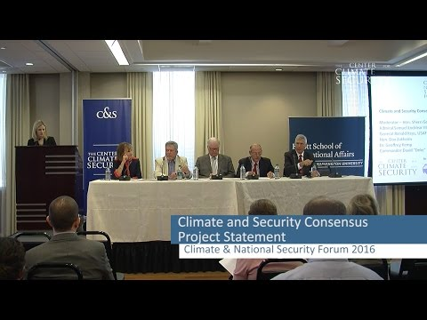 Climate Security Consensus Project Statement, The Center for Climate and Security