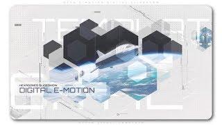 After Effects Template: Hexa E Motion Digital Slideshow