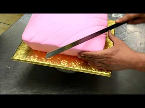 Thumbnail: Making a Pillow Shaped Cake with a Crown on top