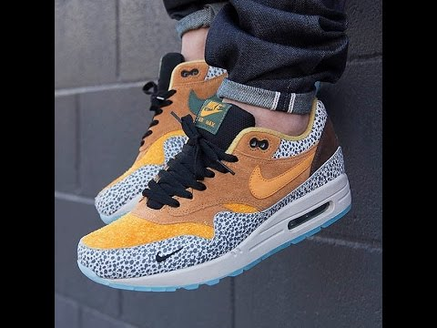 Air Max 1 Atmos Chemise Safari Jaune