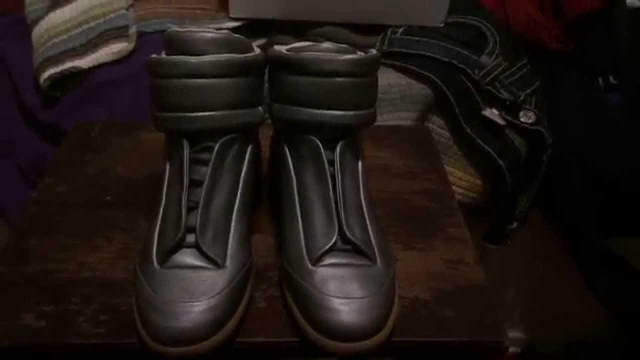 a4b85a94eb5e Maison Martin Margiela Grey Leather Future Sneakers Review - YouTube
