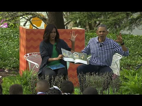 President Obama and the First Lady Read to Kids at the 2016 Easter Egg Roll