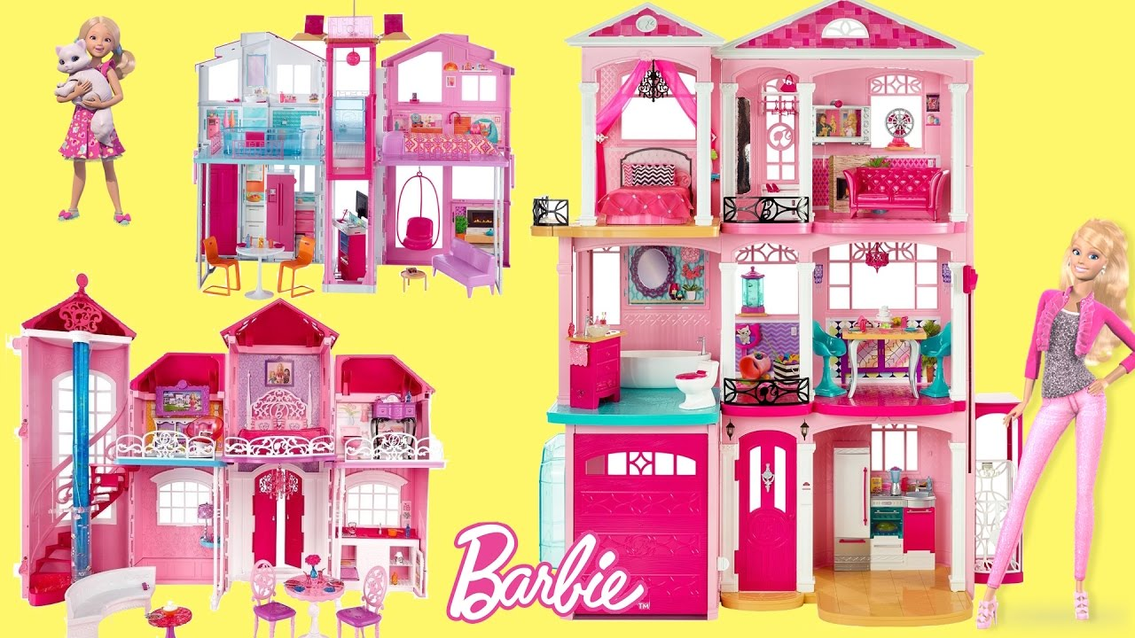 barbie dreamhouse 2017 - 6 barbie dollhouse unboxing review baribe