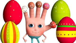 VeeJee Surprise Eggs Finger Family Series | Cake Pop Finger Family Song | 3D Animation and Rhymes