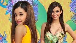 Ariana Grande & Victoria Justice On The Red Carpet- Kids Choice Awards 2014