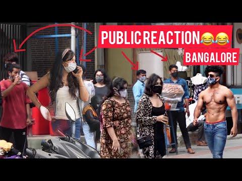 PUBLIC REACTION WHEN  FITNESS FREAK GOES T-SHIRT LESS IN PUBLIC BANGALORE    PUBLIC REACTION