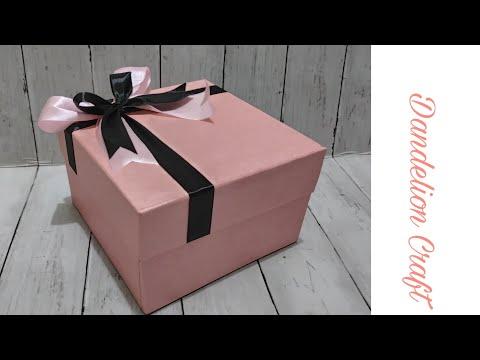 Cara Membuat Kotak Kado Semewah Di Toko| DIY Gift Box | How To Make Gift Box So Easy