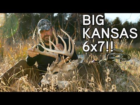 Kansas Bowhunting | BIG 6x7 Buck!