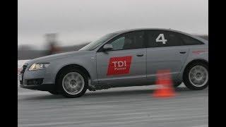 Школа Audi Quattro. как правильно ездить по льду на полном приводе.