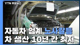 연말 자동차업계 파업·갈등...400만 대 생산 10년 만에 깨지나 / YTN