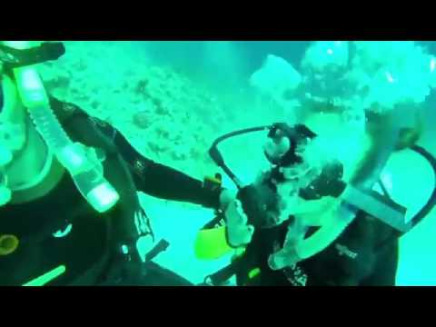 Kiss on 18 meters depth. Red Sea. I love love. Open water PADI divers course. Mamo the best