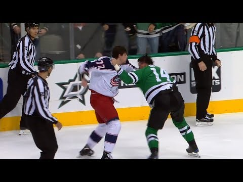 Josh Anderson vs. Jamie Benn Fight (Nov. 12, 2018) (All Calls)