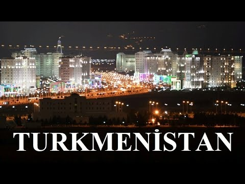 Ashgabat by night Turkmenistan Part 11