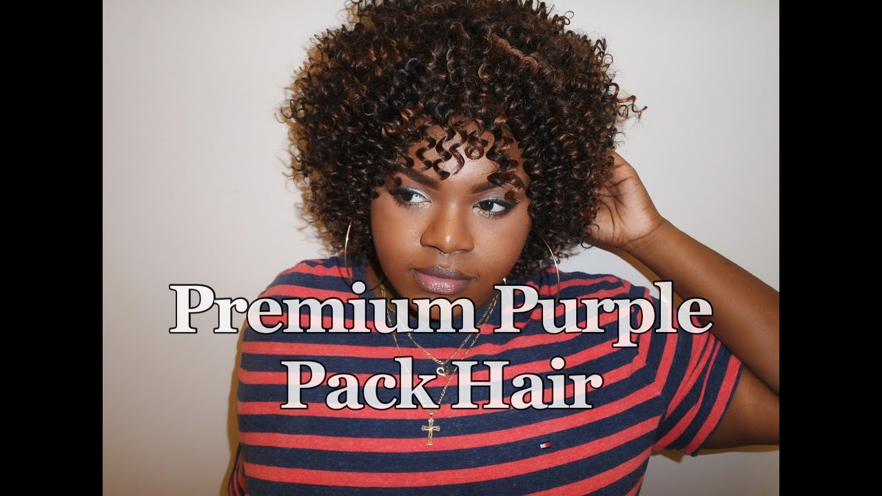 outre premium purple pack hair - jerry curl - youtube