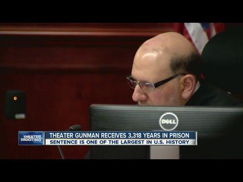 Theater gunman sentenced to 3,318 years in prison