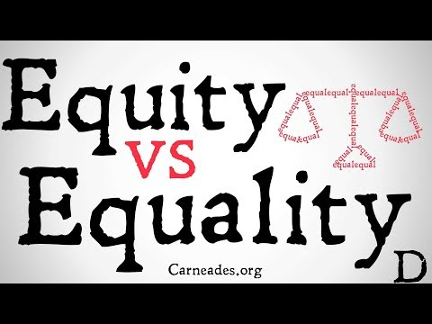 Equity vs Equality (Philosophical Distinction)