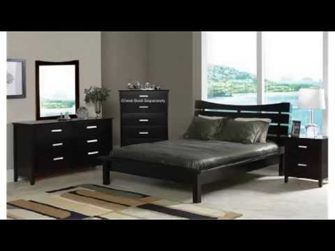 cheap-bedroom-sets- -nice-solid-bed- -bedroom-contemporary-cappuccino-finish-queen
