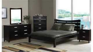 Cheap Bedroom Sets   Nice Solid Bed   Bedroom Contemporary Cappuccino Finish Queen