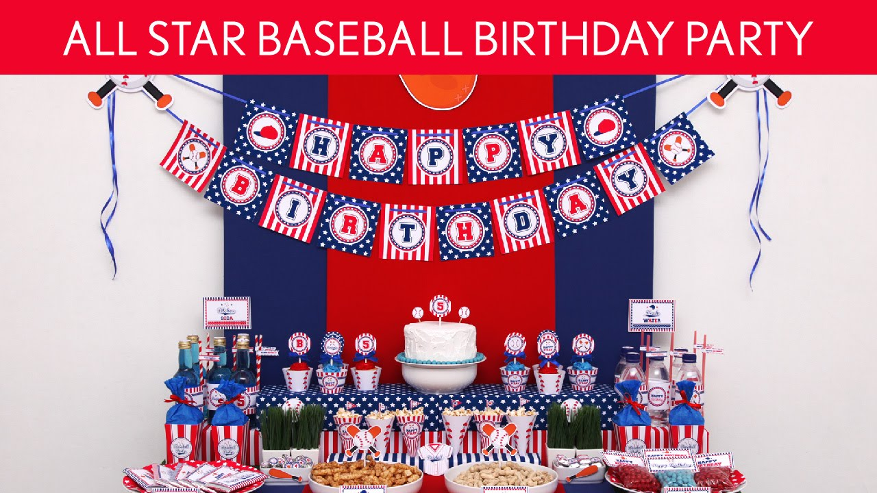 2099f41feb04b All Star Baseball Birthday Party Ideas // All Star Baseball - B118