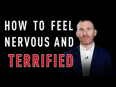 Public Speaking: How to feel nervous and terrified