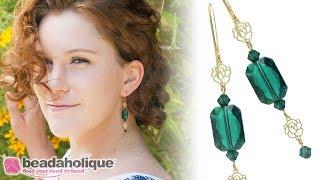 Quick & Easy DIY Jewelry: Bridal Rose Earrings