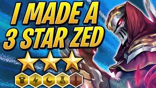 So I made a 3 STAR Zed... ⭐⭐⭐ | 3 Electric / 6 Warden Comp | Teamfight Tactics Set 2 | TFT | LoL