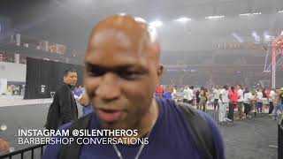 Derrick James right after Spence 1 RD KO of Ocampo