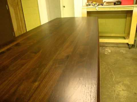 Z Countertop Stain : ... Custom Woodworking (Walnut Countertop with Walnut Stain) - YouTube