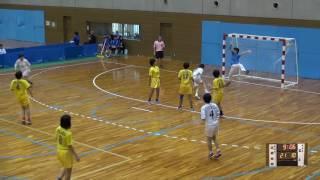 5日 ハンドボール女子 国体記念体育館 Dコート 高岡向陵×富士 1回戦 2