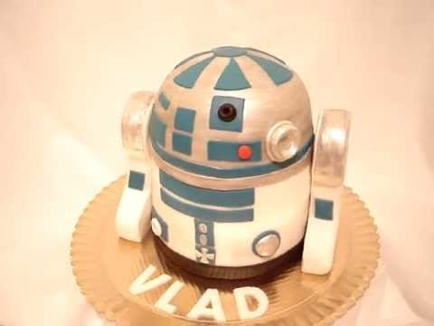 Star Wars R2d2 Fondant Cake