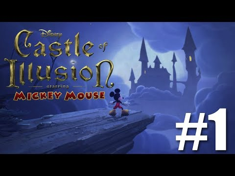 Castle of Illusions Starring Mickey Mouse Walkthrough - Enchanted Forest ACTS 1, 2, and 3