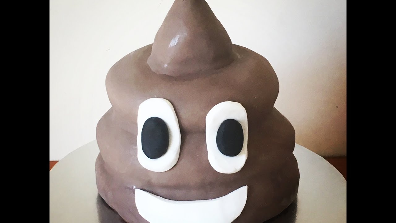 poo emoji cake tutorial youtube